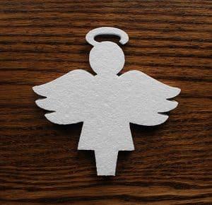 styropianowy aniołek dekoracyjny