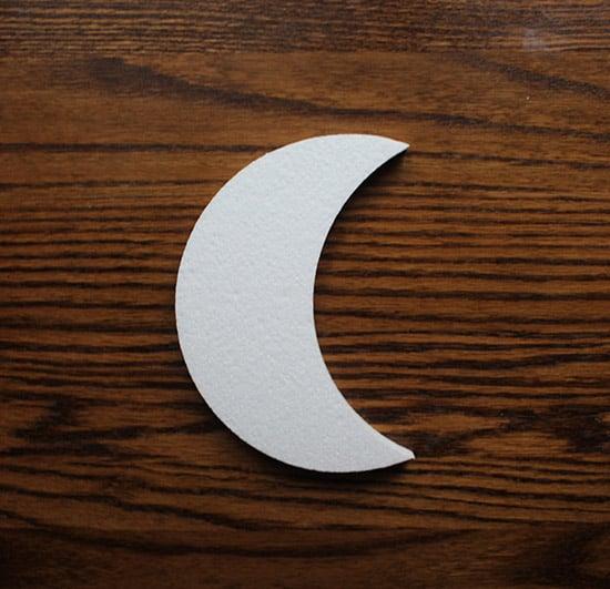 księżyc ze styropianu