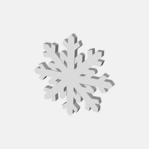 styropianowy płatek śniegu