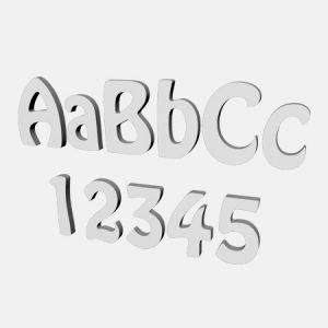 litery i cyfry hobo ze styropianu