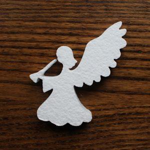 ozdoba komunijna anioł styropianowy
