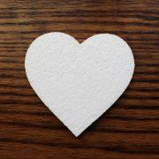 ozdoba styropianowa w kształcie serca