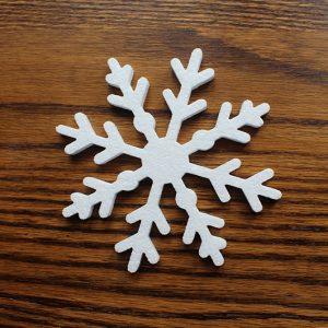 świąteczna gwiazdka styropianowa - ozdoba na Boże Narodzenie
