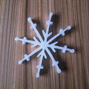 styropianowe śnieżynki