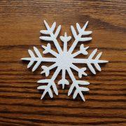 gwiazdka ze styropianu do dekoracji świątecznych