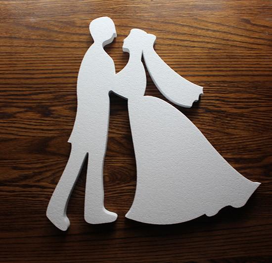styropianowa para weselna do dekoracji ślubnych