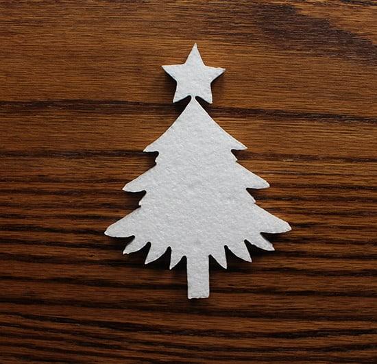 dekoracja świąteczna choinka ze styropianu