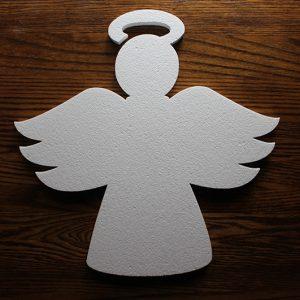 styropianowy aniołek do dekoracji komunijnych i świątecznych