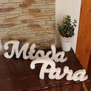 styropianowa dekoracja - weselny napis