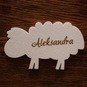 styropianowa owieczka na dekoracje komunijne