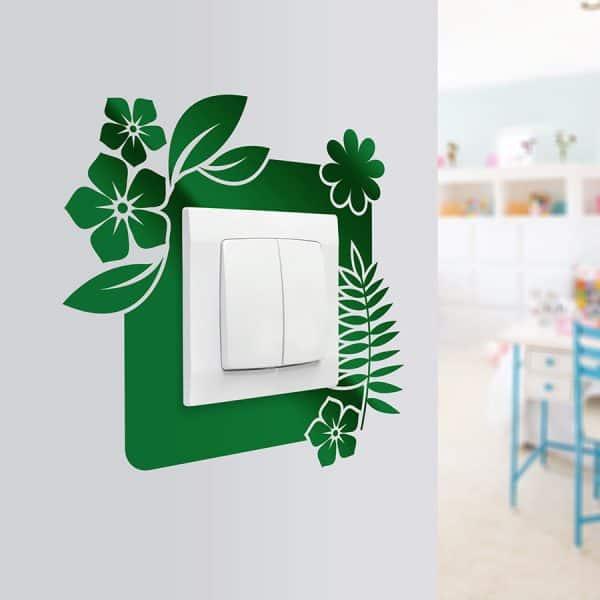 naklejki pod kontakt na ściany z motywem kwiatów
