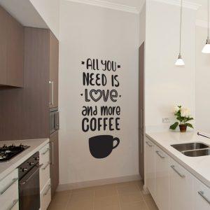 naklejki na ściany kuchenne i salonowe kawa