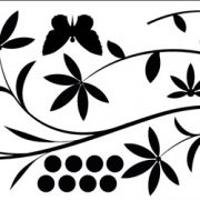 szablon naklejek na ściany do salonu z kwiatami