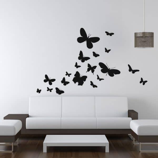 naklejki naścienne do salonu z motywem motyli