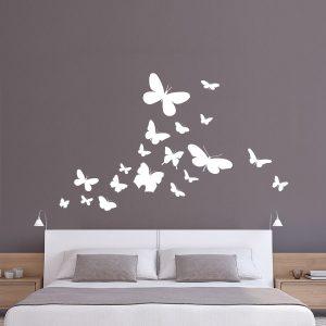 naklejki motylki do sypialni