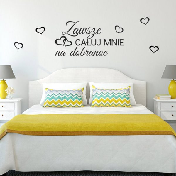 udekoruj ściany swojej sypialni romantycznym napisem
