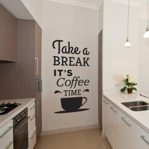 dekoracja kuchenna naklejana na ścianę