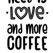 Naklejka w kształcie kawy na ścianę