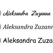 styropianowe napisy i litery i inicjały