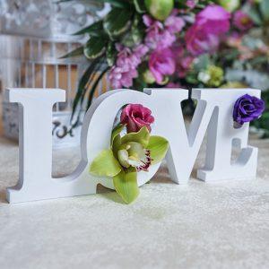 ozdoby ślubne i weselne napis styropianowy LOVE