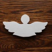 styropianowy aniołek do dekoracji komunijnej kościoła