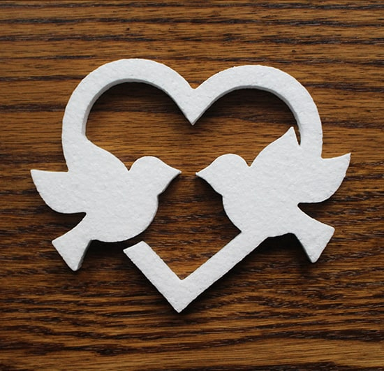 styropianowe gołębie do dekoracji wesel i komuni