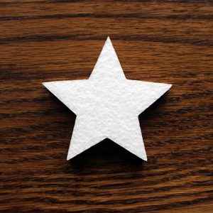 styropianowa gwiazdka dekoracyjna