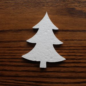 świąteczna dekoracja choinka ze styropianu