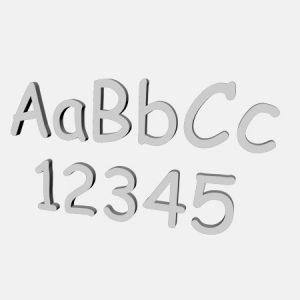 ozdoby styropianowe cyfry i litery