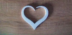 serce ze styropianu na wesele i komunie