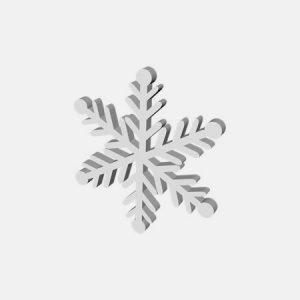 zimowe dekoracje styropianowe śnieg