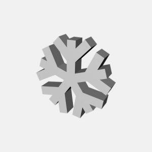 styropianowa gwiazdka śnieżna