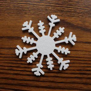 śnieżynkowa gwiazdka - ozdoba styropianowa na święta