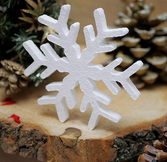 śnieg dekoracje styropianowe na choinkę