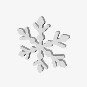 ozdoby styropianowe śnieżynki