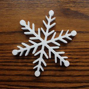 śnieżynka styropianowa do dekoracji bożonarodzeniowych