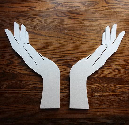 ozdoby styropianowe - ręce