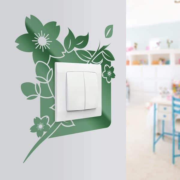 naklejki na ścianę z motywem kwiatów