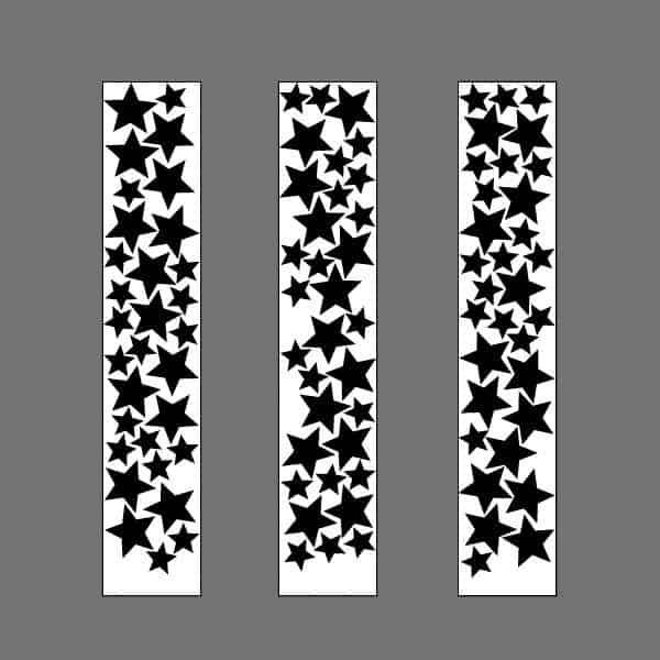 szablon gwiazdki naklejki