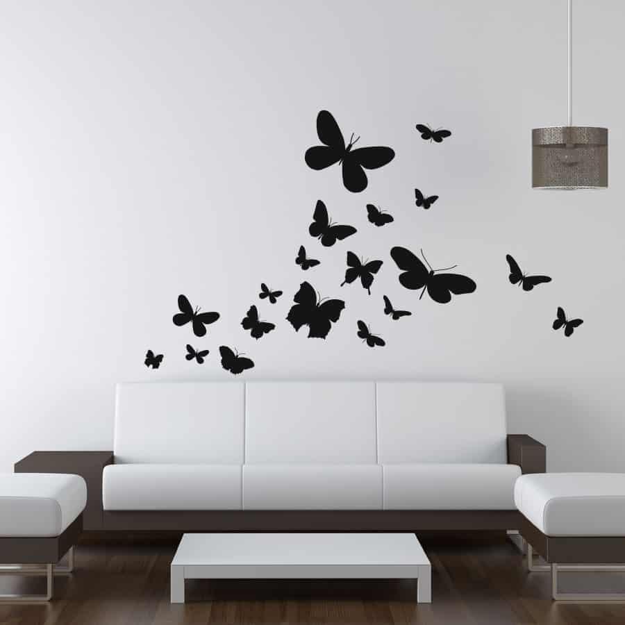 Naklejka Motyle Na ścianę 09
