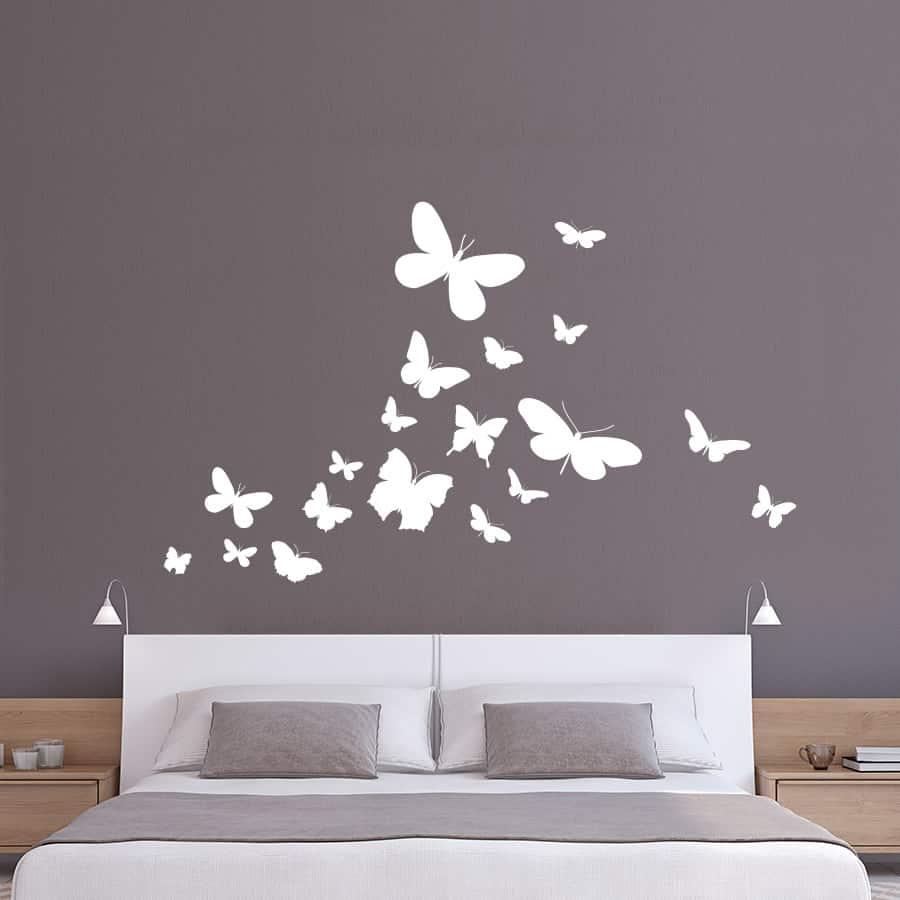 Naklejka Do Sypialni Motyle 09