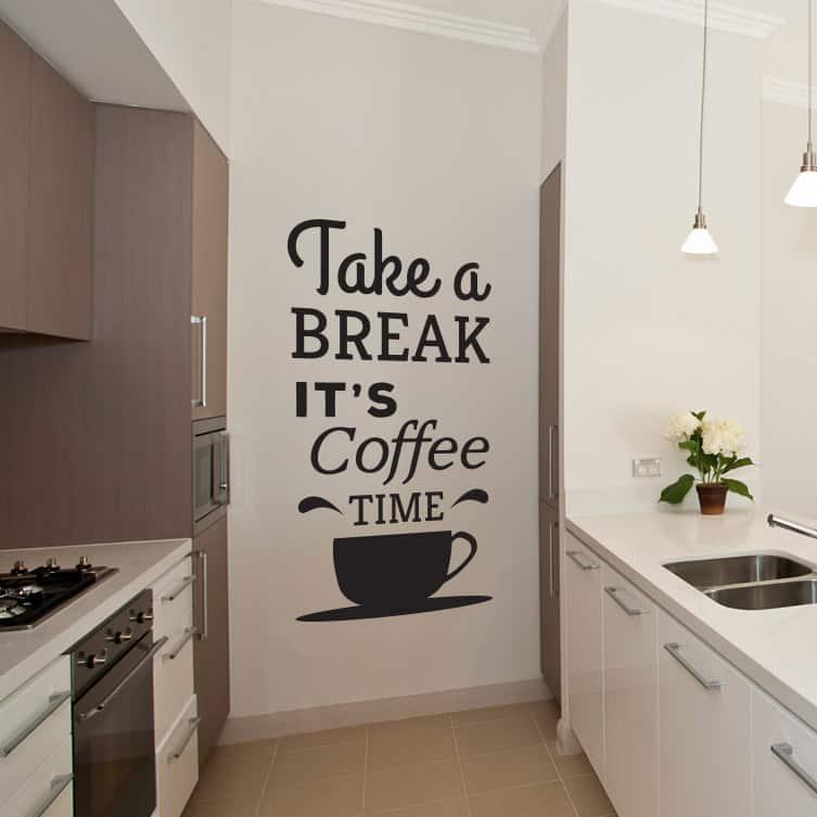 Naklejka Na ścianę Kawa Ozdoba Na ściany Do Salonów I Kuchni