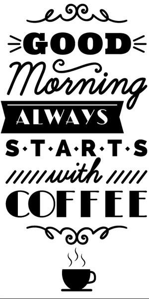 naklejka do kuchni coffee