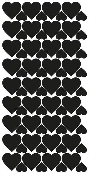 szablon naklejek serca