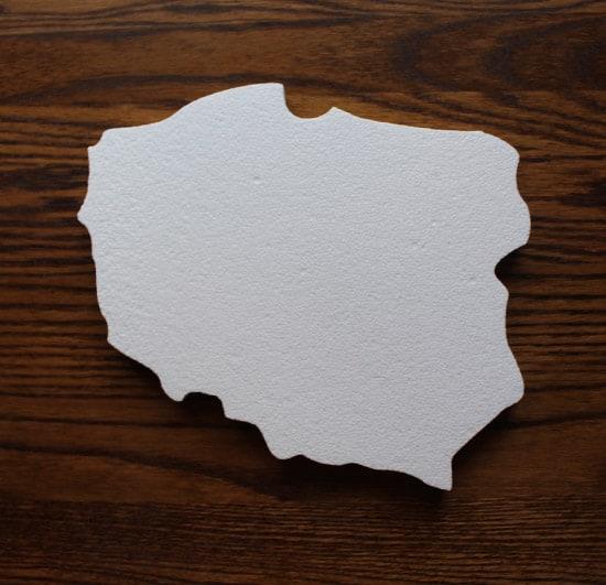 mapa polski ze styropianu
