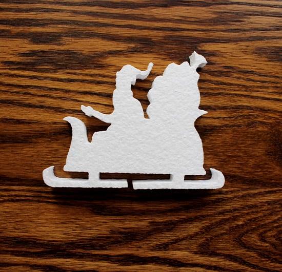 mikolaj do dekoracji zimowych