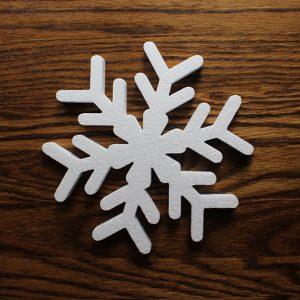 dekoracje zimowe ze styropianu