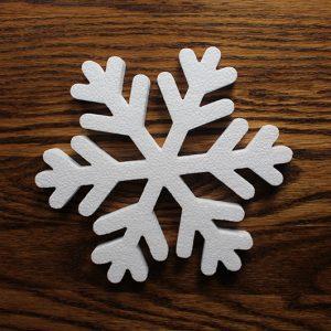 gwiazdka ze styropianu śnieżynka