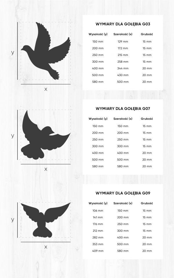 gołębie z imionami dzieci